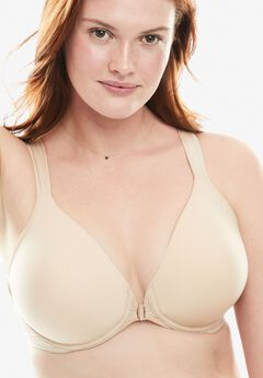 Front-Close Seamless T-shirt Bra by Leading Lady®, NUDE