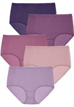 5-Pack Nylon Full-Cut Brief by Comfort Choice®, PURPLE MULTI PACK