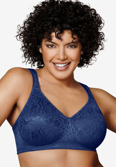 Bra, wireless ultimate lift & support by Playtex® 18 Hour, BLUE VELVET, hi-res