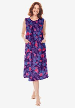Sleeveless Print Lounger by Only Necessities®, RICH VIOLET ROSE