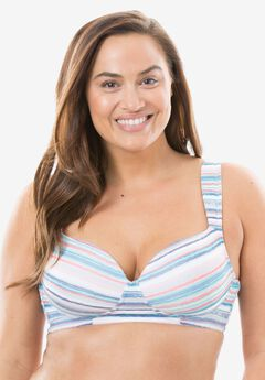 Cotton Wireless Light Support T-shirt Bra by Comfort Choice®,