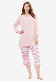 Downtime Henley PJ Set by Dreams & Co.®,