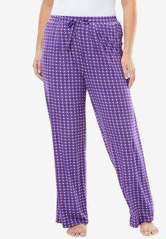 Sweet Dream Pajama Pants by Dreams & Co.®, VIOLET BLOOM FOULARD, hi-res