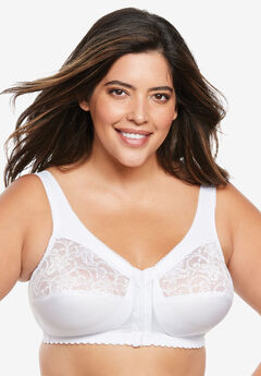 Front-Hook Wireless Bra by Glamorise®, WHITE, hi-res