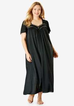 Full-Sweep Nightgown by Only Necessities®, BLACK, hi-res