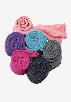 Comfort Choice® Rib-Knit Sock 6-Pack, MIDTONE ASSORTED, hi-res