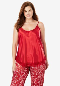 The Luxe Satin Tank PJ Set by Amoureuse®,