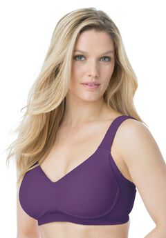 Super side-smoothing wireless T-shirt bra by Comfort Choice®, VERY PLUM, hi-res