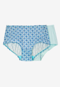 2-Pack Cooling Briefs by Comfort Choice®, ICE BLUE GEO PACK, hi-res