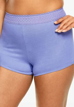 Lace Waistband Boyshort by Comfort Choice®,