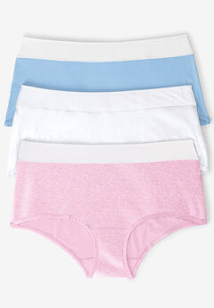 3-pack tagfree brief panty by Comfort Choice®, PASTEL ASSORTED, hi-res