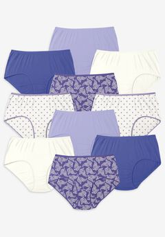 10-Pack Pure Cotton Full-Cut Brief , MULTI PAISLEY PACK