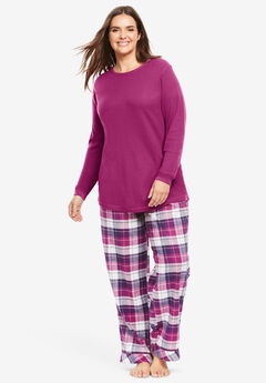 Thermal PJ Set by Only Necessities®, RASPBERRY PLAID
