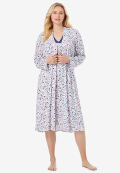 Knit Gown and Robe Set ,