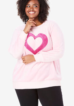 Plush Graphic Sweatshirt by Dreams & Co.®,