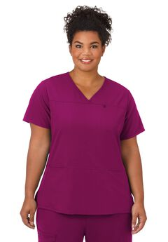 Jockey Scrubs Women's True Fit Crossover V-Neck Top,