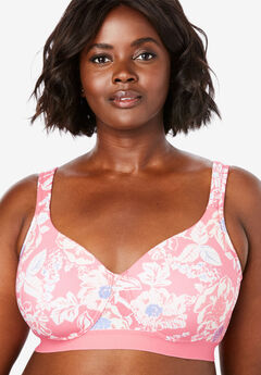 Bottom Band Cotton Wireless T-Shirt Bra by Comfort Choice®,