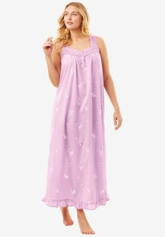 Long Embroidered Gown by Dreams & Co®, ORCHID PINK, hi-res