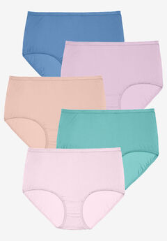 5-Pack Nylon Full-Cut Brief by Comfort Choice®, SPRING PACK