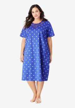Lace-Trim Sleepshirt,