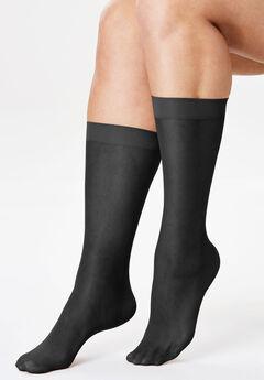 ff667875461 3-Pack Sheer Knee-High Socks by Comfort Choice®