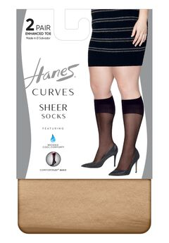 Curves Sheer Socks 2-Pack,