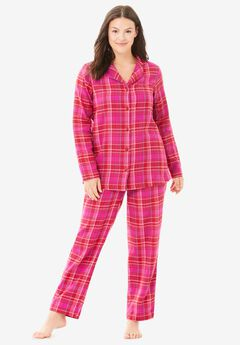 Classic Flannel Pajama Set by Dreams & Co.®, CLASSIC RED PLAID