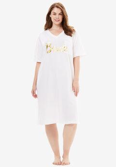 Print Sleepshirt by Dreams & Co®, BRIDE, hi-res