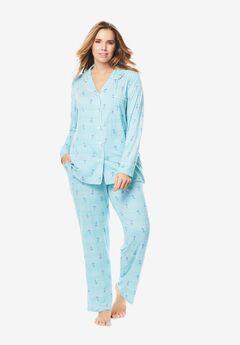2-Piece Classic Pajama Set By Dreams & Co.®, CARIBBEAN BLUE ANCHOR