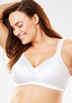 Microfiber Wireless T-Shirt Bra by Comfort Choice®, WHITE