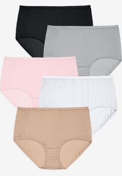 5-Pack Nylon Full-Cut Brief by Comfort Choice®, BASIC PACK