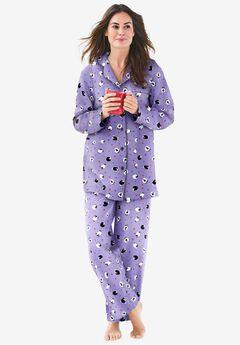 Classic Flannel Pajama Set , SOFT IRIS SHEEP