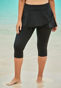 Skirted Swim Capri Pant ,