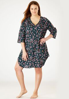 Button-Front Sleepshirt,