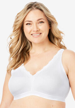 Total Comfort Wireless Lace Trim Bra by Comfort Choice®,