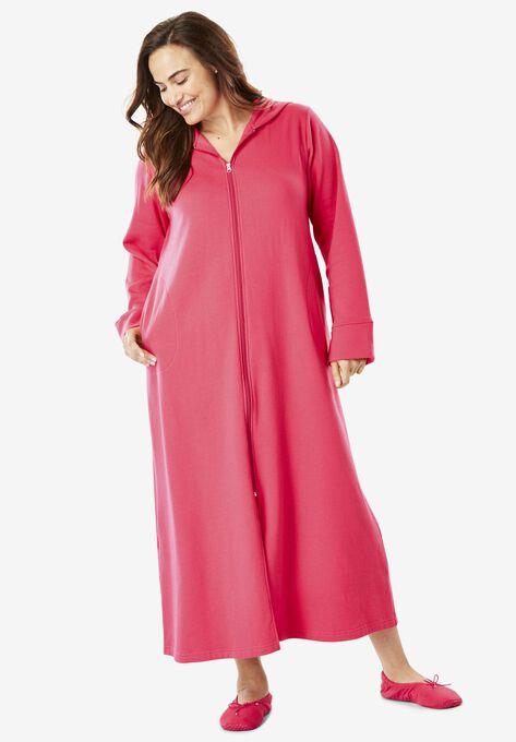 Hooded Fleece Robe By Dreams Co Plus Size Petite Sizes Roamans