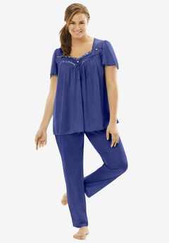 Silky 2-Piece PJ Set , ULTRA BLUE