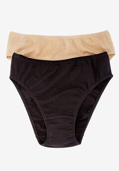 2-Pack Stretch Cotton Bikini by Comfort Choice®,