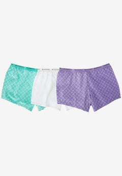 3-Pack Boyshorts by Comfort Choice®, MODERN FOULARD PACK, hi-res