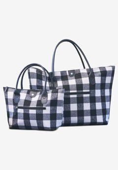 2-Piece Buffalo Plaid Bag Set,