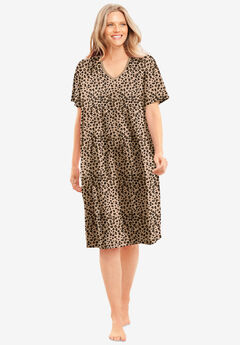 Print Sleepshirt by Dreams & Co.®, CLASSIC LEOPARD