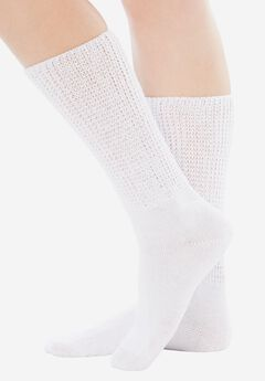 2-Pair Open Weave Extra Wide Socks by Comfort Choice®,