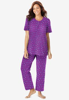 Floral Henley PJ Set , FRESH BERRY FLOWERS