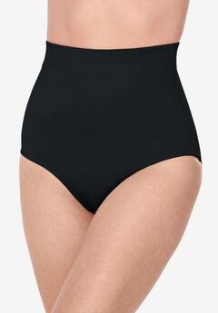 High waist shaping brief by Secret Solutions® Curvewear, BLACK
