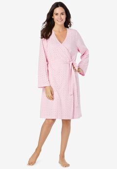 Short Eyelet Wrap Robe,