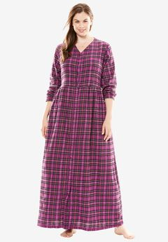 Flannel Plaid Lounger by Only Necessities®, BERRY PLAID, hi-res