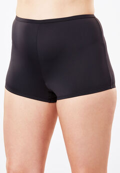 Stretch Microfiber Boyshort By Comfort Choice®, BLACK, hi-res