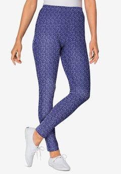 Stretch Cotton Printed Legging, NAVY ALL OVER DITSY