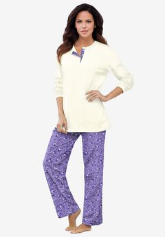Henley PJ Set by Only Necessities®, PURPLE LILY