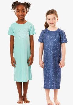 2-Pack Kids' Sleepshirts by Dreams & Co.®, LETS DREAM, hi-res